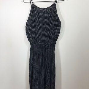 Retro style black & white polka dot sheer dress